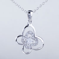 Necklace & Pendants - clover crystal pendant necklace Image.