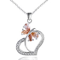 Necklace & Pendants - mother's love mother charms birthstone charms sterling silver heart butterfly june Image.
