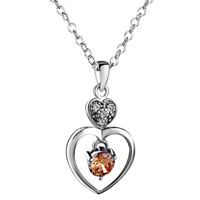 Necklace & Pendants - mother's love mother charms birthstone charms sterling silver heart june Image.