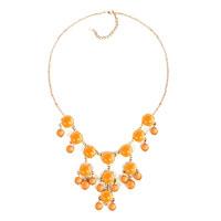 """Necklace & Pendants - statement necklace bright yellow semi precious stone dangle 18""""   pendant Image."""