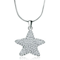 Necklace & Pendants - star crystal love pendant necklace for women Image.