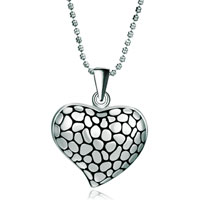 Necklace & Pendants - fashion marbling pattern heart love necklace pendant for women earrings Image.