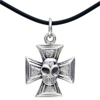 Sterling Silver - 925  sterling silver special halloween skull pendant necklace sterling silver pendant Image.
