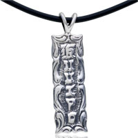 Sterling Silver - 925  sterling silver mysterious letters pendant necklace sterling silver pendant Image.