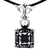 Sterling Silver - 925  sterling silver special photo frame pendant necklace sterling silver pendant Image.