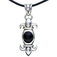 Sterling Silver - 925  sterling silver symmetrical pattern pendant necklace sterling silver pendant Image.
