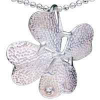 Sterling Silver - 925  sterling silver flower pendant necklace sterling silver pendant Image.