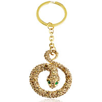 Bag Charms - golden snake with may birthstone bag dangle european beads fit all brands Image.