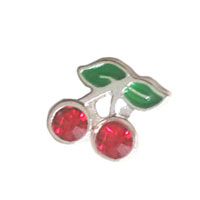 Floating Charms - cute cherry floating charms for glass living memory lockets Image.
