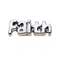 Floating Charms - silver tone faith floating charms for living memory lockets Image.
