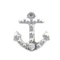 Theme Jewelry - anchor with clear crystal cz floating charms for living memory lockets Image.