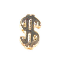 Floating Charms - golden tone us dollar sign floating charms for living memory lockets Image.