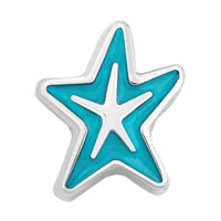 Floating Charms - aquamarine blue starfish floating charms for living memory lockets Image.