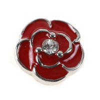 Floating Charms - floating charms red flower clear crystal cz for living memory locket Image.