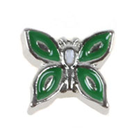 Floating Charms - green butterfly animal floating charms for living memory lockets Image.