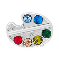 Floating Charms - colorful crystal cz floating charms for living memory lockets Image.