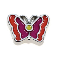Floating Charms - colorful butterfly animal floating charms for living memory lockets Image.