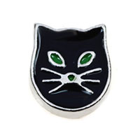 Floating Charms - floating charms black cat animal charms for living memory lockets Image.