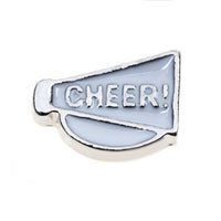 Floating Charms - cheer horn floating charms for living memory lockets Image.