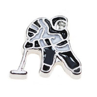 Floating Charms - playing ice hockey floating charms for living memory lockets Image.