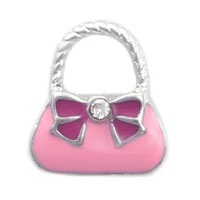 relation - fashion pink handbag floating charms for living memory lockets Image.