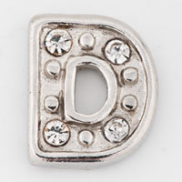 Floating Charms - clear crystal cz initial letter d floating charms for living lockets Image.