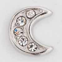 Floating Charms - clear crystal cz moon lover floating charms for living memory locket Image.