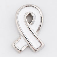Floating Charms - white ribbon leukemia awareness floating charms for living lockets Image.