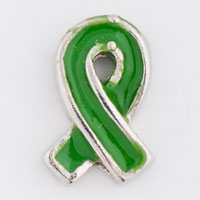 Floating Charms - green ribbon leukemia awareness floating charms for living lockets Image.