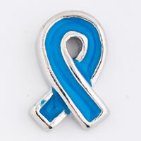 Floating Charms - blue ribbon leukemia awareness floating charms for living lockets Image.