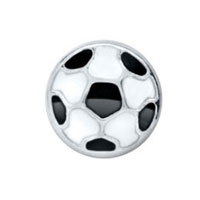 Floating Charms - black football sports lover floating charms for living memory locket Image.