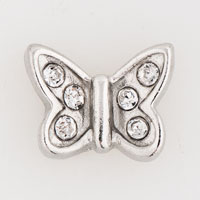 Floating Charms - clear crystal cz butterfly floating charms for living memory locket Image.