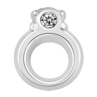 Floating Charms - clear crystal cz ring floating charms for living memory locket Image.
