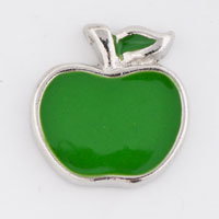 Floating Charms - silver tone green apple floating charms for living memory locket Image.