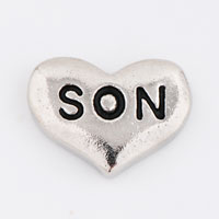 Floating Charms - silver/ p son heart love floating charms for living memory locket Image.