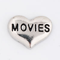 Floating Charms - silver/ p movies heart floating charms for living memory locket Image.