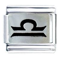 Italian Charms - libra horoscope symbol italian charms bracelet link Image.