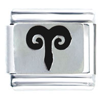 Italian Charms - aries horoscope symbol italian charms bracelet link Image.