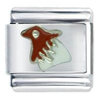 Italian Charms - animal brown head bird italian charms bracelet link Image.
