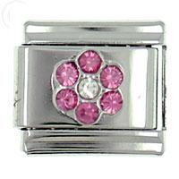Italian Charms - july flower italian charm bracelet Image.