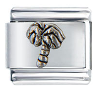 Italian Charms - silver tone beach palm christmas tree italian charm bracelet bracelet link Image.