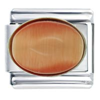 Italian Charms - coral oval italian charms Image.