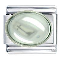 Italian Charms - oval april diamond color birthstone italian charms Image.