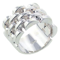 Rings - sterling silver stacked clear crystal cz ring size  6 Image.