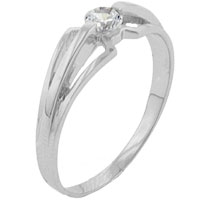 Sterling Silver Jewelry - size 6  cz trident gift fashion jewelry ring sterling silver Image.