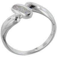 Rings - round cz oval sterling silver ring gift fashion jewelry Image.