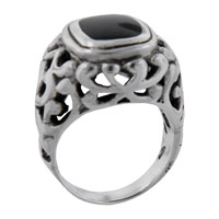 Rings - size6  princess cut onyx vine ring Image.