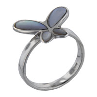 Mother Of Pearl Jewelry - mother of pearl butterfly inlay rings Image.