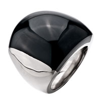 Gifts Center - size6  elegant black smooth round agate Image.