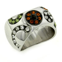 Rings - size7  round cut multicolor cz ring Image.